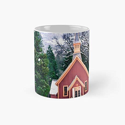 Taza clásica de la iglesia de Yosemite   El mejor regalo divertidas tazas de café de 325 ml