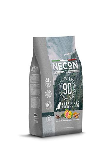 Necon Pet Food Natural Wellness Sterilizzato Tacchino & Riso 400 g, Cibo per Gatti Sterilizzati, Crocchette Low Grain ricche Proteinee Omega 3, qualità Super Premium, Made in Italy, Senza Glutine