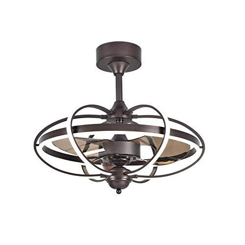 Z-GJM plafondventilatoren met LED-lampen en afstandsbediening, instelbare windsnelheid, moderne plafondlamp van ijzer voor inbouwmontage voor slaapkamer, leeskamer, woonkamer, B60W B60 W.