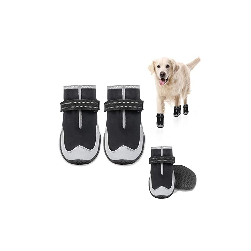 dog supplies online keiyaloe dog shoes for hotpavement dogsboots heat protection paw dog booties breathable nonslip waterproofwith adjustable and reflective strapsfor small, medium, large dogs
