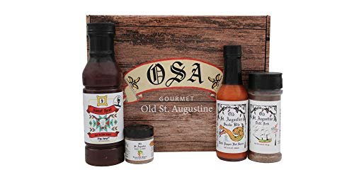 The Bar-B-Que Lover's Box, Includes BBQ Sauce, Hot Sauce, Datil Jerk Seasoning, Nuthin But Datil