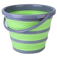 ccfgh pop up secchio pieghevole lavaggio auto all'aperto pesca bagno rotonda cucina secchio verde-verde (color : green)