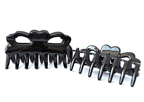 Pack 6 pinces cheveux couleur noir (9 cm). Expédition gratuite