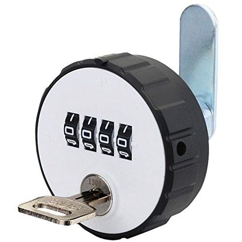 Lock Pad Combinatie Kast Cam Lock 4 Digitale Ronde Hangslot met Sleutellade Deur Gym School Locker met Key Reset Beveiliging 26 b
