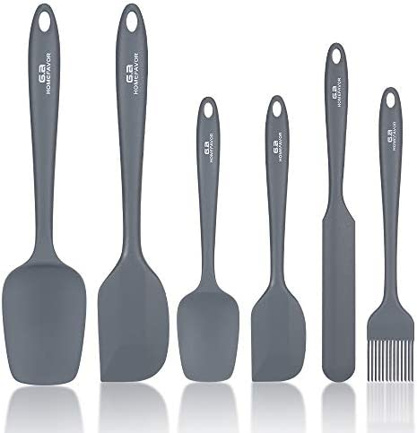 G a HOMEFAVOR Silicone Spatula Set 6 Pieces High Heat Resistant Kitchen Utensils for Baking product image