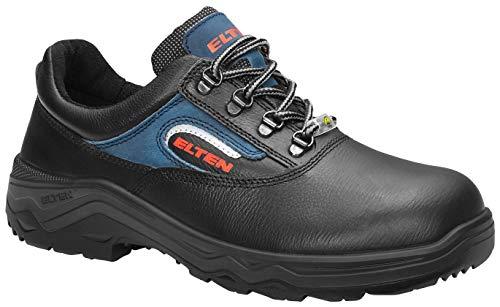 ELTEN Bruno ESD S2 - Zapatos de Seguridad para Hombre, Ligeros, Color Negro, Puntera de Acero, Talla 43