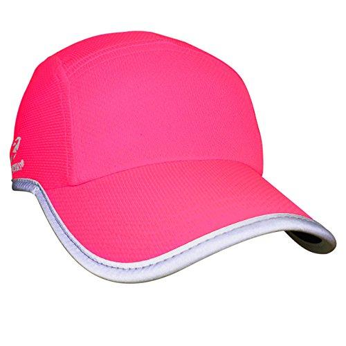 Headsweats Damen Women's Race Hat Hi Vis Reflective Laufmütze Sportkappe, Neon Pink, Women