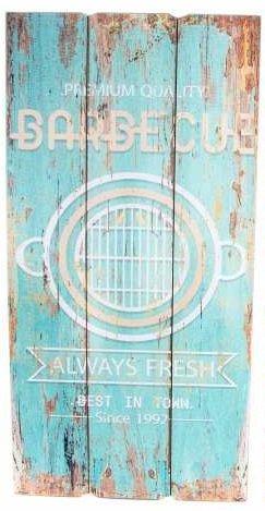 AVENUELAFAYETTE Cadre Tableau Bois Barbecue Pub Vintage rétro - 60 x 30 cm (M3)