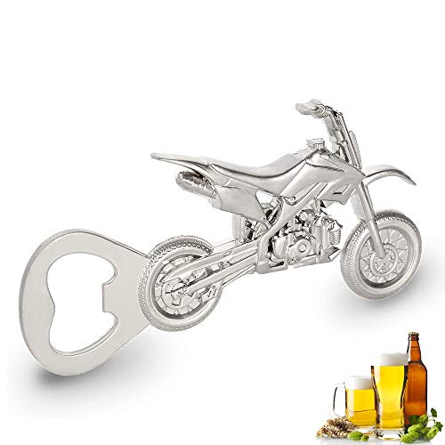 Ritte Motorrad Flaschenöffner, Motorrad Bier Flaschenöffner, Vintage Flaschenöffner, Metall Motorrad Flaschenöffner für Bar Party, Trinkspiel, Geschenke für Männer (Silber)