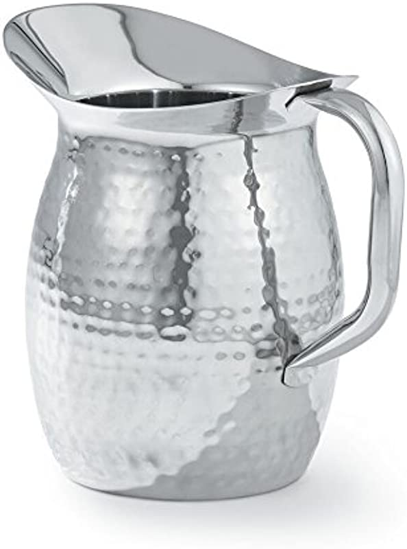 Artisan 2 Quart Stainless Steel Serving Pitcher With Hammered Texture