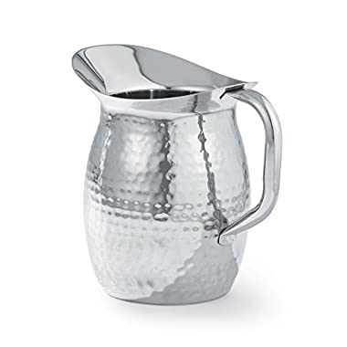 Artisan 2-Quart Stainless Steel Serving Pitcher with Hammered Texture