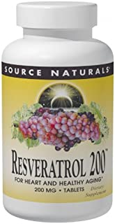 Source Naturals Resveratrol 200 mg for Heart and Healthy Aging - 60 Tablets