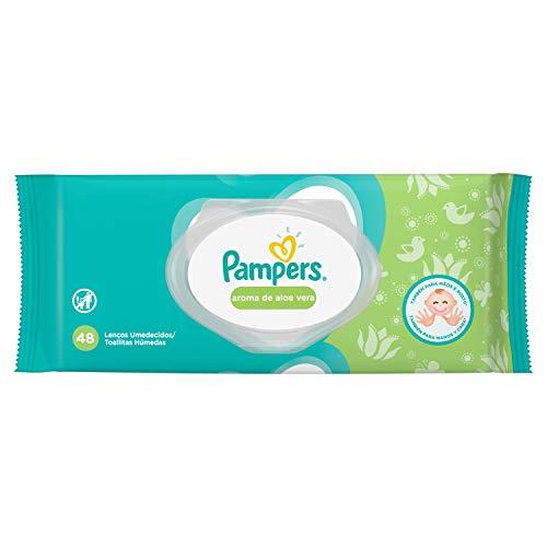 Lenços Umedecidos Pampers Aroma de Aloe Vera 48 Unidades, Pampers