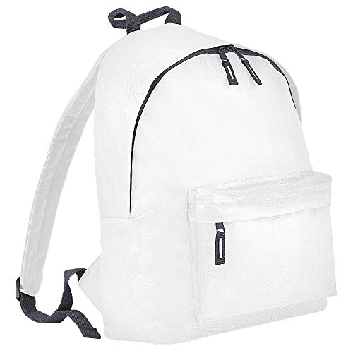 Bagbase Junior Fashion Rucksack, 14 Liter One Size,Weiß/Grau