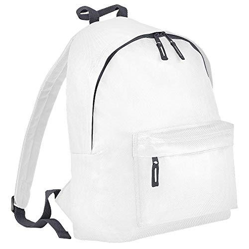 Bagbase - Mochila modelo Junior Fashion (14 litros) (Talla Única/Blanco/grafito)
