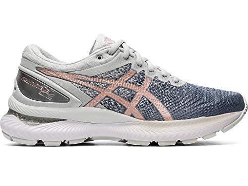 ASICS Women's Gel-Nimbus 22 Running Shoes, 9.5M, Sheet Rock/Rose Gold
