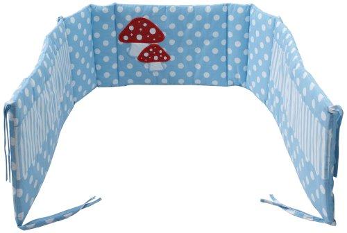 Pinolino 651969-2 - Nestchen für Anstellbettchen, 'Glückspilz' hellblau