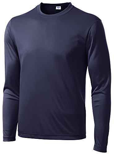 Opna Men's Long Sleeve Moisture Wicking Athletic Shirts Navy-M