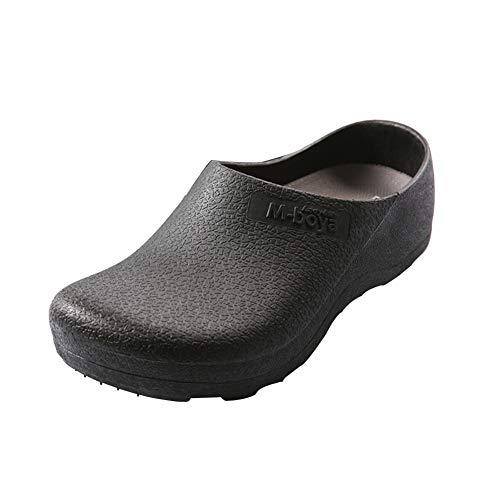 [Isyunen] コックシューズ キッチンシューズ 作業靴 厨房靴 安全靴 作業靴 ワークマン ボア付き 軽量 滑り止め 耐滑 27.5cm ブラック 黒45
