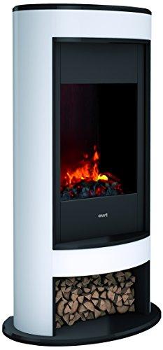DIMPLEX 206275 Elektrischer Kamin mit Fernbedienung, 1000 W, 220 V, Schwarz/Weiß