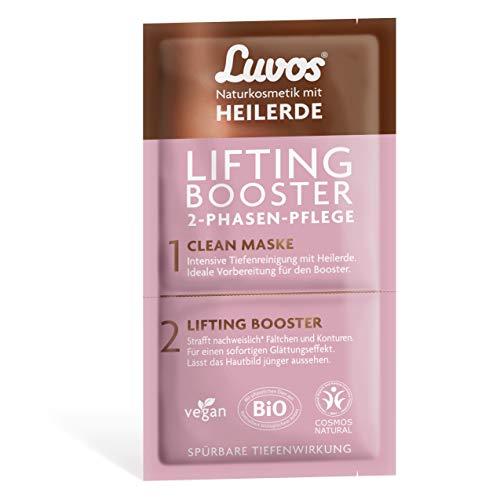 Luvos Lifting-Booster Liftingcreme Clean-Maske Reinigungsmaske Gesicht mit Sofort-Effekt, 1 Sachet mit 2+7,5ml