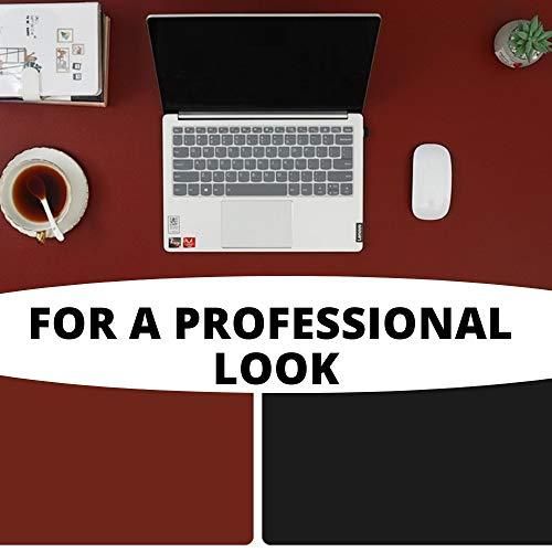 Rouge Noir, Recommandé par les entrepreneurs, Tapis réversible, Sous main de bureau, pad souris, artisanal, 365 jours pour tester, Tapis de souris, dessous bureau, tapis ordinateur, desk mat