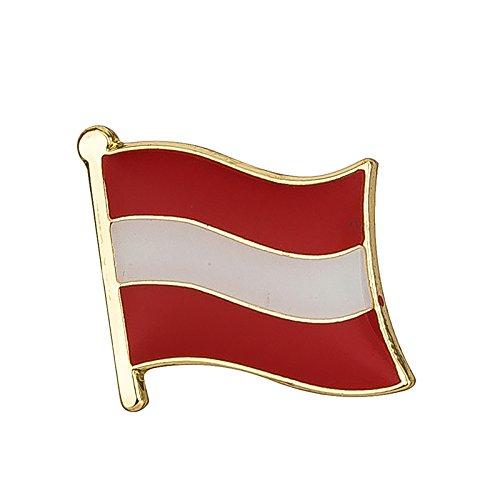 Patch Nation Österreich Österreichisch Flagge Metall Button Badge Pin Pins Anstecker
