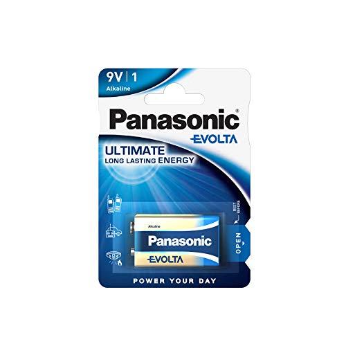 Panasonic EVOLTA 9-Volt-Alkalibatterie, LR61, 1er Pack, 9V, Premium-Batterie mit besonders langanhaltender Energie, Alkaline Batterie