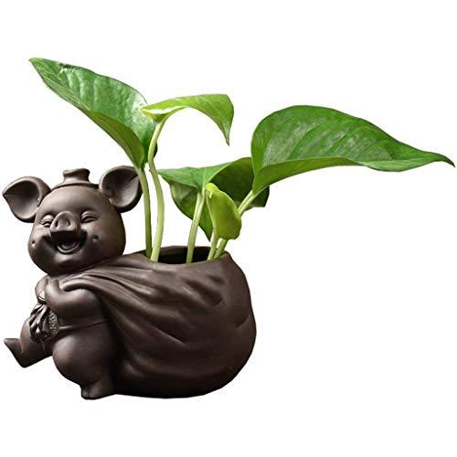 HTL Muebles para el Hogar Floreros Creative Green Agua Hidropónica Vase Inicio Salón Comedor Decoración Adornos Familia Y Boda