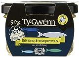 TY-GWENN - Rillettes de Maquereaux - Au Vin Blanc - Malléable et facile àtartiner - 185 Grammes