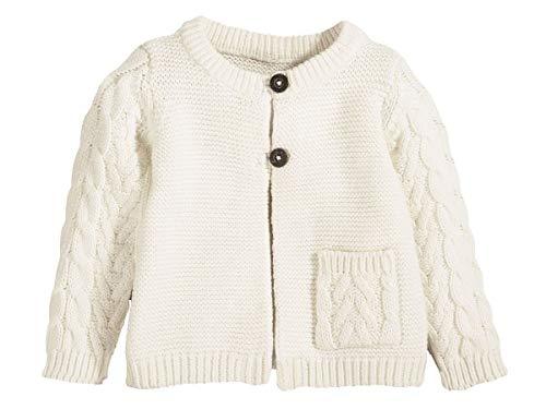 lupilu Baby Strickjacke 100% Baumwolle - Organic Wollweiß 50/56