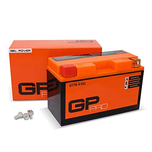 GP-PRO GT7B-BS 12V 6Ah GEL-Batterie (Kompatibel mit YT7B-BS / 50719) (Wartungsfrei & Versiegelt) Akkumulator Motorrad Motorradbatterie