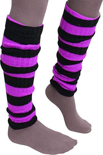 1, 2 oder 3 Paar Damen Stulpen für Hand und Fuß | Pulswärmer Legwarmers Beinstulpen Farbe Schwarz/Pink Größe 3 Paar