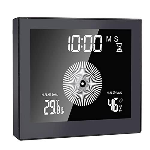 Fiauli Reloj de pared ligero con ventosa de cuenta atrás y temperatura...