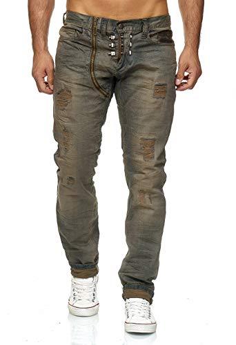 KINGZ Herren Jeans 1297 Blue Green 33