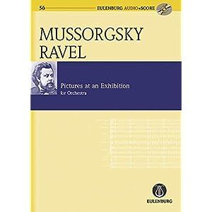 Bilder einer Ausstellung: Instrumentation von Maurice Ravel. Orchester. Studienpartitur + CD. (Eulenburg Audio+Score, Band 56)