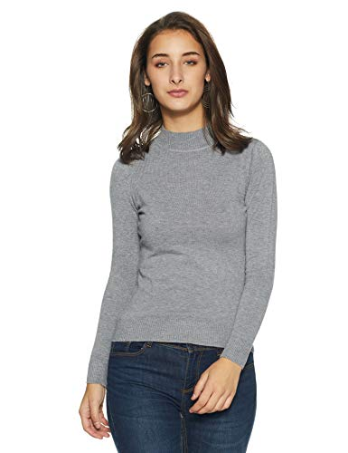 Qube By Fort Collins Women's Sweater (CH102_Grey_L)