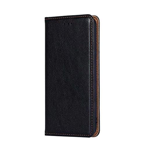 GOGME Hülle für Xiaomi Poco F3, Premium PU Leder Magnetische Automatische Adsorption Brieftasche Schutzhülle Flip Handyhülle für Xiaomi Poco F3, Schwarz