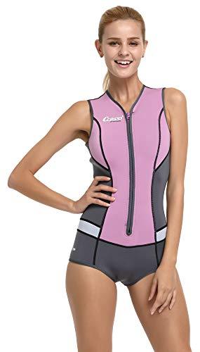 Cressi Idra Neoprene Swimsuit 2mm - Damen Swimming Wetsuit Neopren Badeanzug 2mm Neoprenanzug