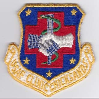 PATCHMANIA USAF Patch Intel USAFE 6950 Security Group RAF Chicksands Clinic 78mm 77mm Parches Bordados THERMOADHESIVE Patch