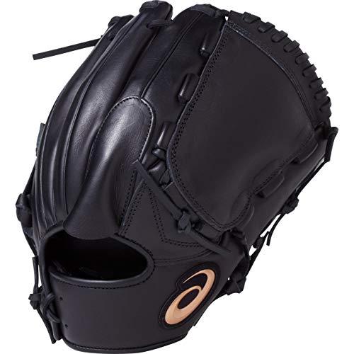 asics(アシックス) 軟式 野球用 グローブ 投手用 (右投げ用) 一般用 DIVE サイズ8 2019年モデル 3121A135 ブラック LH(右投げ用)