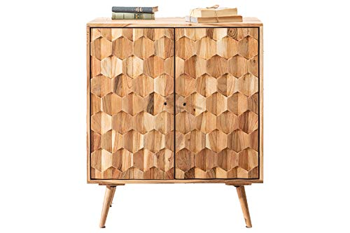 DuNord Design huisbar natuur acacia massief hout 76 cm bar