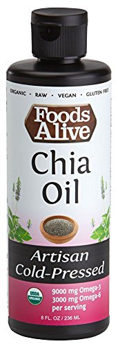 Chia Seed Oil, Artisan Cold-Pressed, Organic, 8oz