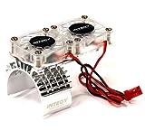 Integy RC Model Hop-ups T8534SILVER Motor Heatsink + Twin Cooling Fan for Traxxas 1/10 Slash 4X4 (6808)