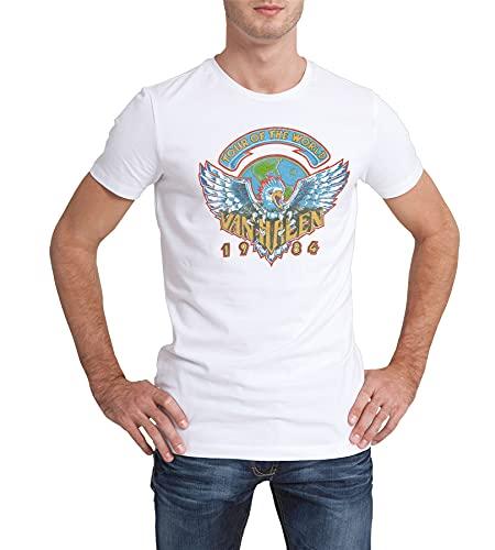 Men's Van Halen Tour Of The World 1984 T-shirt, 3 Colours, S to 4XL