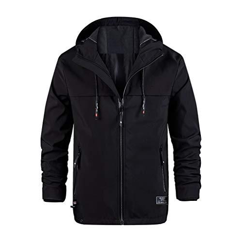 Huaya Kapuzenpullover Herren Mode Beiläufig Reißverschluss Jacke Mantel