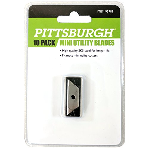 Pittsburgh Mini Utility Knife Replacement Blade 10 Pack, 93789