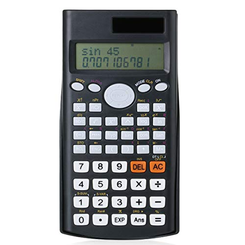 Mr Pen Scientific Calculator Solar Power 2 Line Calculator Calculator for School Fraction Calculator Calculator Scientific Statistics Calculators College Calculators High School Calculator