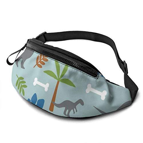 XCNGG Bolso de cintura corriente bolso de cintura de ocio bolso de cintura bolso de cintura de moda Cute Dinosaur Dino Waist Bag Pack Sturdy Zippers Running Belt Large Capacity Waist Pouch Bag for Pho