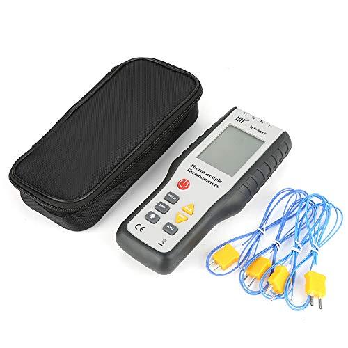 Termopar Termómetro 4 canales K Tipo HT-9815 Termómetro digital LCD Medidor de temperatura con estuche de almacenamiento, Rango de medición: 200 ° C ~ 1372 ° C (-328 ° F ~ 2501 ° F)